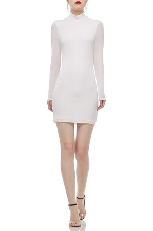 HIGH NECK AND BACKLESS DRESS BAN2104-0450
