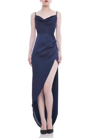 CAMISOLE WITH HIGH SLIT ASIDE DRESS BAN2103-0372