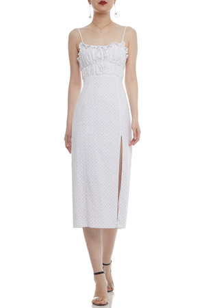 CAMISOLE WITH TIES ON THE BACK ANKLE LENGTH DRESS BAN2103-0797