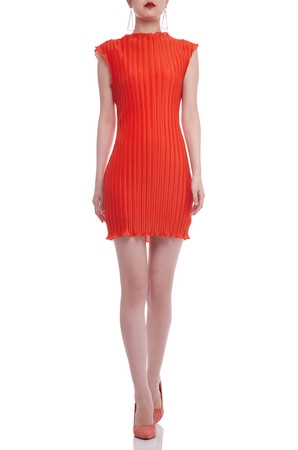 BOAT NECK PLEATED DRESS BAN2105-0240