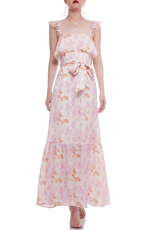 BELTED ANKLE LENGTH STRAP DRESS BAN2103-0339