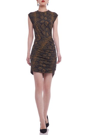 ROUND NECK PENCIL DRESS BAN2106-0198