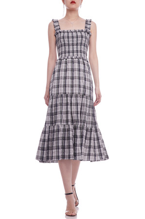 A-LINE ANKLE LENGTH STRAP DRESS BAN2104-0786