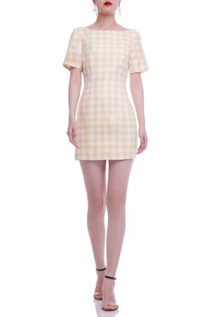 SCOOP NECK PEMCIL DRESS BAN2105-0386