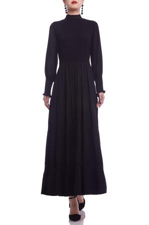 HIGH NECK SEMI-CIRCULAR ANKLE LENGTH DRESS BAN2106-1069