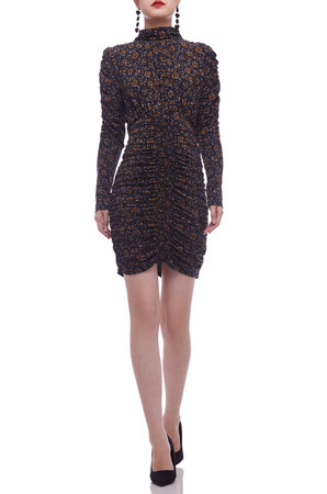 TURTLE NECK ABOVE THE KNEE PENCIL DRESS BAN2105-0844