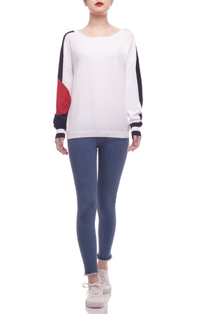 BOAT NECK SWEATER TOP BAN2104-0738