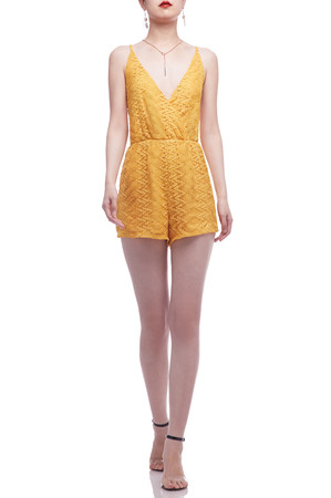 CAMISOLE WITH CROSS ON THE BACK AND SURPLICE NECK ROMPERS BAN2105-0864
