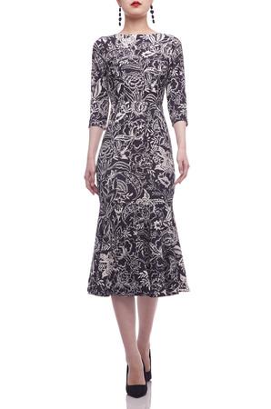 BOAT NECK MID-CALF DRESS BAN2106-0815