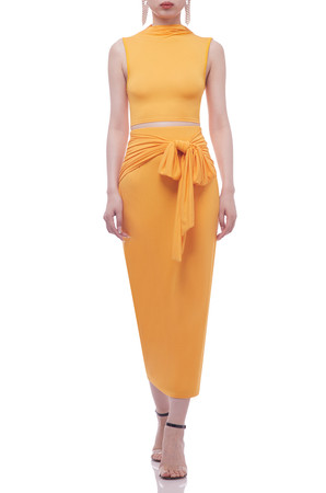 HIGH WITH TIE ON THE WAIST ANKLE LENGTH SKIRT BAN2102-0190