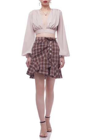 NORMAL WITH TIE ASIDE WAIST SKIRT BAN2105-0823