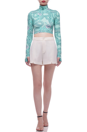 HIGH NECK CROPPED TOP BAN2105-0403
