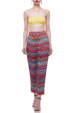 NORMAL WAISTED TAPERED BAGGY CROPPED PANTS BAN2105-0214