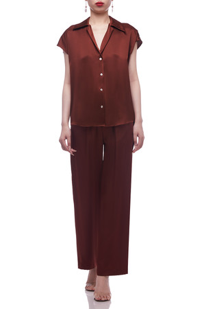 NORMAL WAISTED WITH DRAWSTRING ON THE WAIST PANTS BAN2103-1056