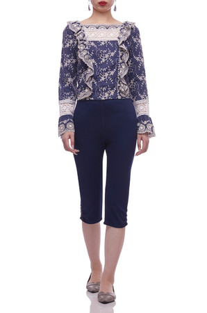 HIGH WAISTED SLIM FIT BELOW THE KNEE LENGTH PANTS BAN2012-0411