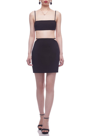 NORMAL WAISTED WITH TIE ON THE WAIST SKIRT BAN2105-0133