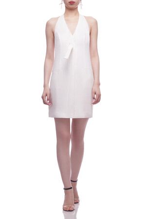 HALTER NECK WITH BUTTON DOWN FRONT DRESS BAN2104-0570