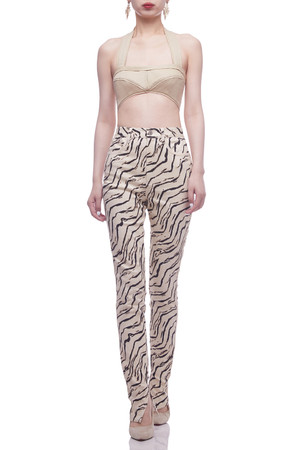 NORMAL WAISTED WITH SLIT INSIDE FULL LENGTH PANTS BAN2105-0545