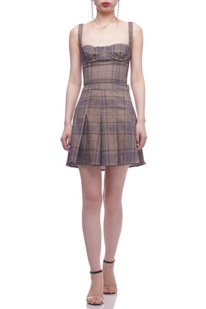 NORMAL WAISTED PLEATED SKIRT BAN2103-0406