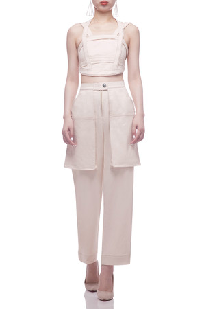 HALTER NECK WITH STRAP CROPPED TOP BAN2103-0957