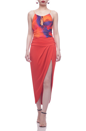 NORMAL WAISTED WITH SLIT ASIDE SKIRT BAN2105-0826