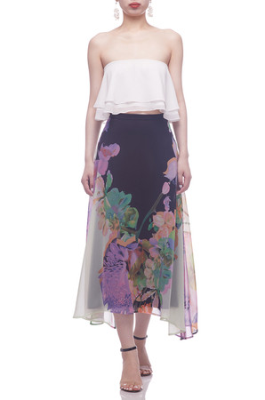 NORMAL WAISTED WITH ASYMETRICAL HEM SKIRT BAN2107-0262