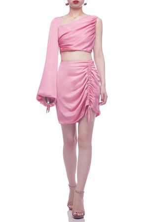 NORMAL WAISTED WITH DRAWSTRING ASIDE SKIRT BAN2106-1109