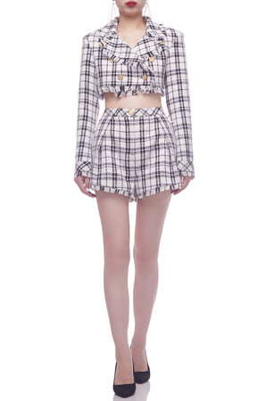 SIBGLE BUTTON FRONT CROPPED JACKET BAN2106-0024