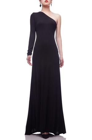 ONE SHOULDER FLOOR LENGTH DRESS BAN2106-0964