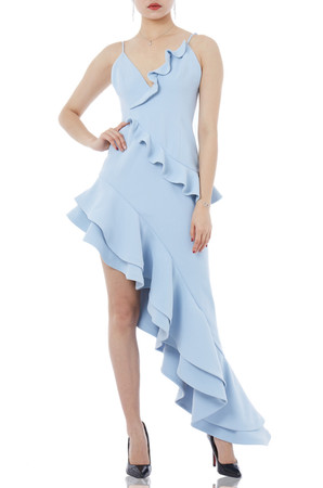 ASYMETRICAL SLIP DRESS P1810-0273