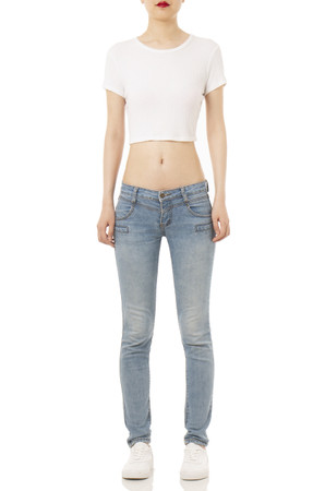 ROUND NECK CROPPED TOPS P1703-0027