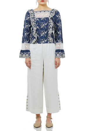 DAYTIME OUT WIDE LEG PANTS P1611-0044