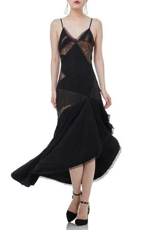 ASYMETRICAL SLIP DRESS BAN1803-0050