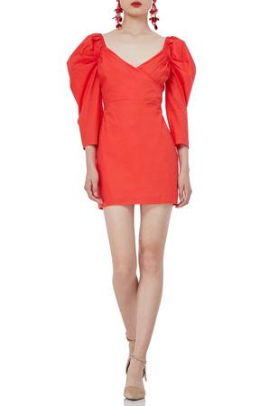 3/4 SLEEVE MINI COTTON DRESSES P1812-0096