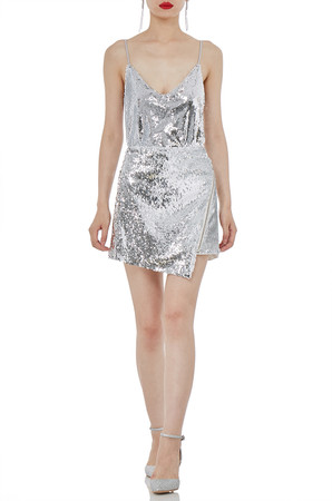 STRAP BODYSUITS SEQUINED TOPS P1807-0198