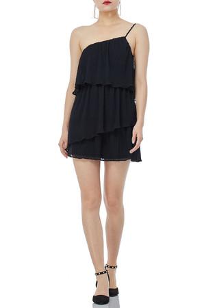 ONE SHOULDER MINI DRESSES P1809-0287-PB