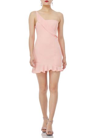 ASYMETRICAL WITH FALBALA HEM DRESSES P1904-0047-PP