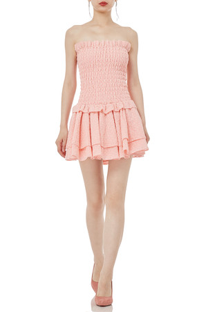 STRAPLESS LOW WAISTED FALBALA DRESSES P1904-0043-PP