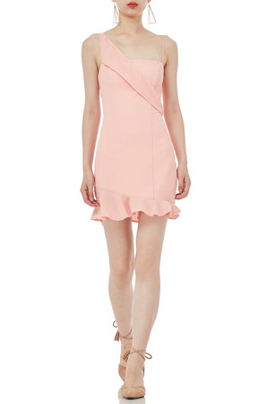 STRAP MINI LENGTH FALBALA DRESSES P1809-0227-PP