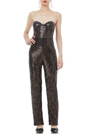 HIGH WAISTED STRAPLESS JUMPSUITS P1807-0265