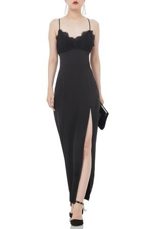 STRAP SLIT FLOOR LENGTH DRESSES P1807-0039-PB