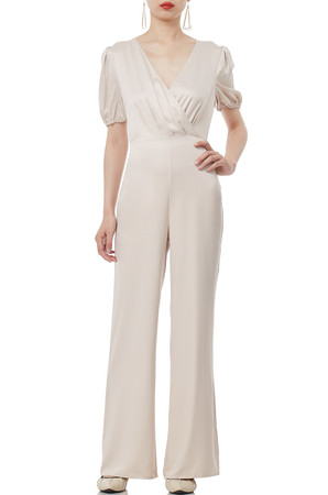 V-NECK WITH PUFF SLEEVE JUMPSUITS PS1807-0020