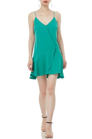 STRAP FALBALA MINI LENGTH DRESSES P1908-0017