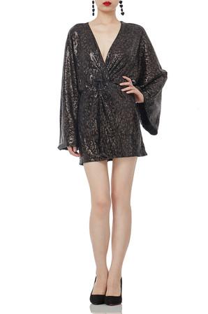 MINI LENGTH V-NECK ANGEL NATURAL WAIST DRESSES P1807-0267-PA