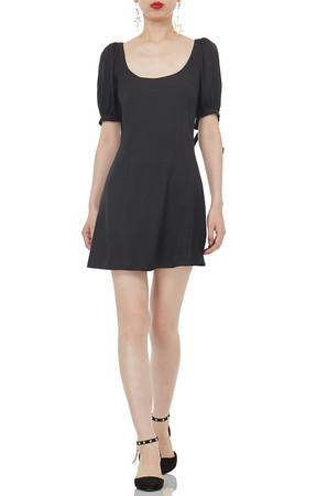 OVAL MINI LENGTH NATURAL WAIST DRESSES P1812-0337-PB