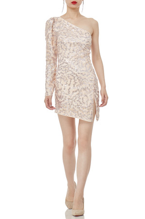 ONE SHOULDER MINI LENGTH DRESSES P1905-0118
