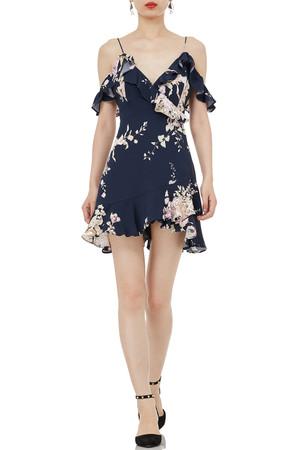 STRAP FALBALA MINI LENGTH DRESSES P1806-0207