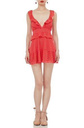 HIGH WAISTED FALBALA MINI LENGTH DRESSES P1810-0029-PR