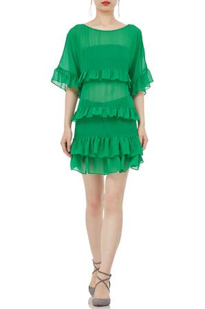 BOAT MINI LENGTH FALBALA DRESSES P1905-0048-PG