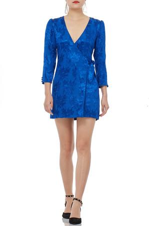 V-SHAPED CREW  LONG SLEEVE  MINI LENGTH DRESSES  P1809-0338